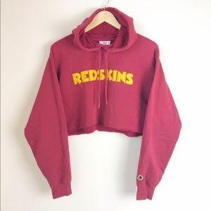 Redskins Women's Cropped Hoodie Sweatshirt